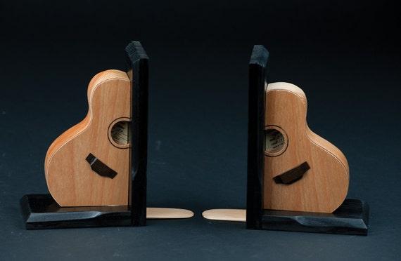 Handmade guitar bookends - Piano bookends ...