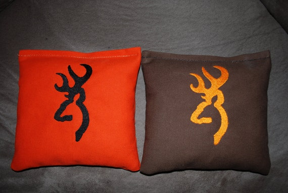Browning Buck embroidered Cornhole Bags 8 bags for Brian Dooley