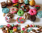 20 pcs polymer clay charms - Sweets theme