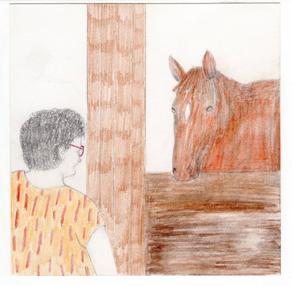 Horse Stare (Original Drawing)