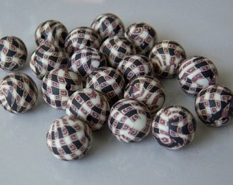 20-Polymer Clay Beads, Round 10mm