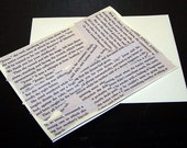 Set of 5 Literary Note Cards