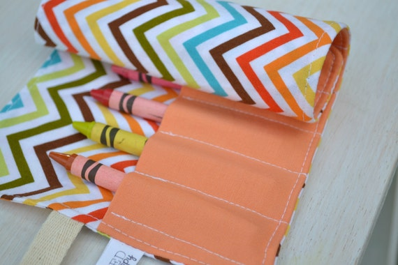 Crayon Roll In Chevron(SALE)