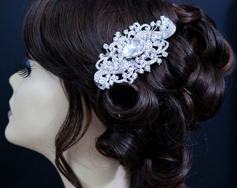SALE crystal wedding bridal haircomb , brooch