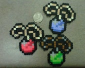 All Three Pendants of Virtue from Zelda: A Link to the Past Magnet SNES pixelated item Blue Power Green Courage Red Wisdom