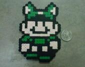 Super Mario Bros 3 Raccoon Luigi Fridge Magnet Nintendo NES 8-Bit Art