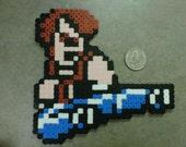 William Jump Kick from Double Dragon classic Nintendo NES Game Fridge Magnet 8-Bit Art Willy Willie