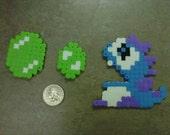 """Bubble Bobble Bob Blue  """"Dragon"""" Blowing Bubbles Open Mouth Fridge Magnet Nintendo NES 8-Bit Art"""