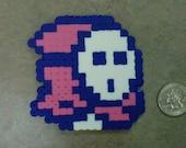 Pink Shy Guy Enemy from Super Mario Bros. 2 Fridge Magnet Nintendo NES 8-Bit Art