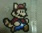 Super Mario Bros 3 Jumping Raccoon Mario Fridge Magnet Nintendo NES 8-Bit Art