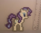 Rarity My Little Pony Profile Brony Magnet 8-Bit Art Fashion Unicorn