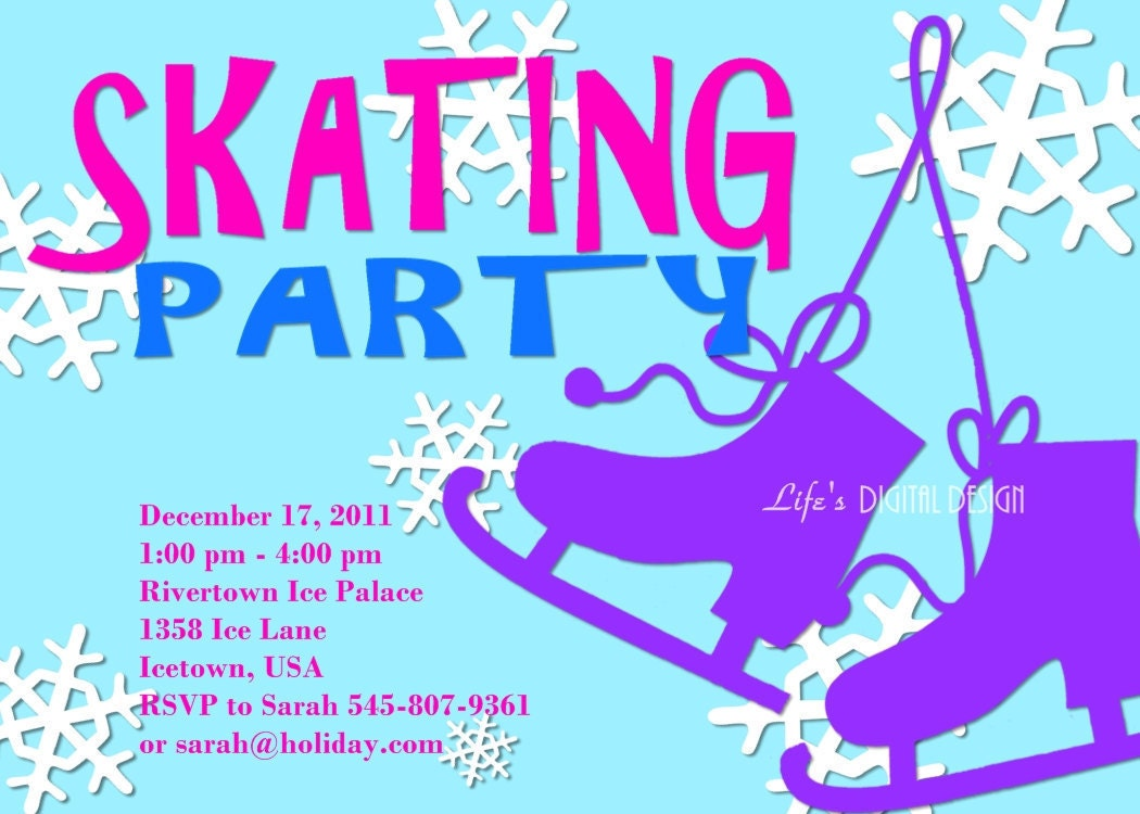 Ice Skating Party Invitations as luxury invitations example