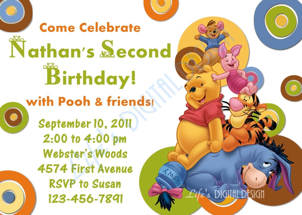 Winnie The Pooh Invitations For 1St Birthday was great invitation ideas