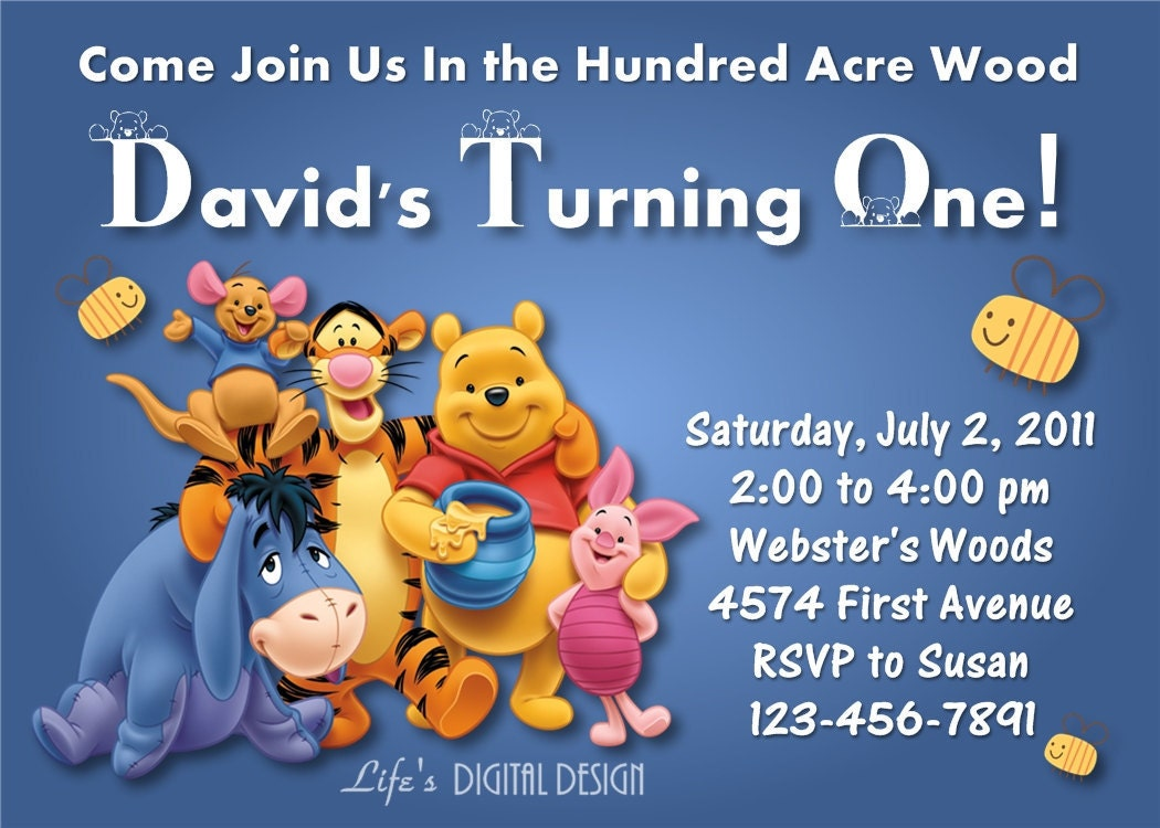 Winnie The Pooh Background Invitation Pictures