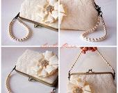 Detachable Swarovski Crystal pearls Handle Strands for Silver frame or Antique brass - Vintage-Inspired