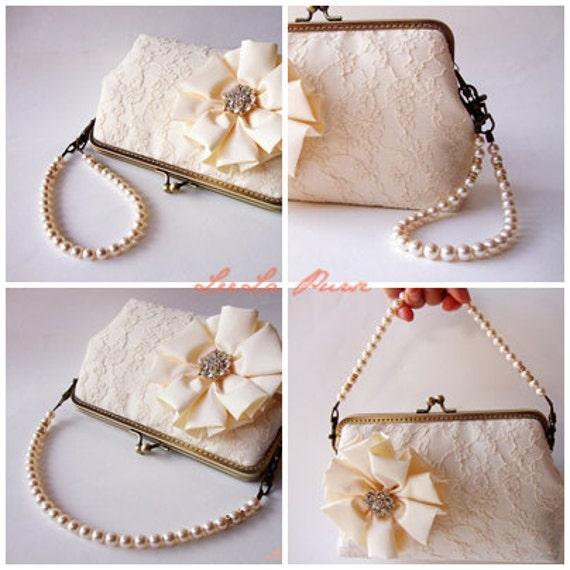 Reserved for casey8984 - 9 Detachable Swarovski Crystal pearls Handle Strands for Silver frame or Antique brass - Vintage-Inspired
