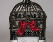SALE-Beautiful VINTAGE bird cage card holder or centerpiece for weddings, showers or home decor, shabby chic