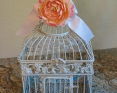 ON SALE-Beautiful LARGE bird cage card holder or centerpiece, for weddings, showers and home decor