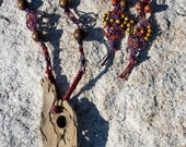 Boho Special, Palm of Buddha Necklace with Matching Earrings