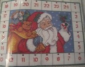 Countdown to Christmas Advent Calendar Cross Stitch Kit With Santa Claus