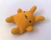 Super Kawaii Crocheted Bunny - Yellow