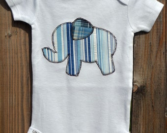 Elephant Applique Onesie Customized for Boys or Girls Create Your Own Onesie with Over 200 Fabric Options
