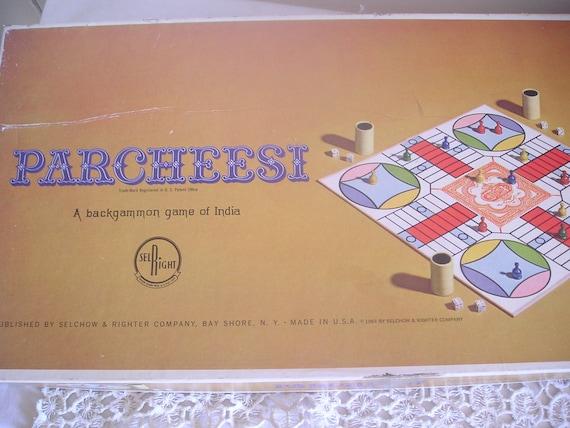 Vintage Board Game Parchessi 1964