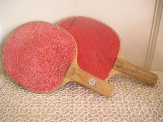 Vintage Shabby Ping Pong Paddles
