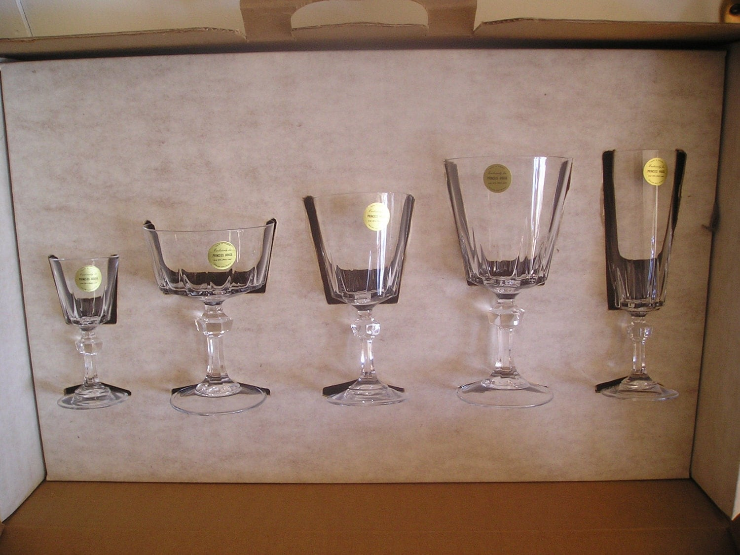 Vintage princess house stemware lead crystal by for Princess housse