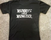 "Rockin Boy Onesie or Shirt ""Mommy's Little Monster"""