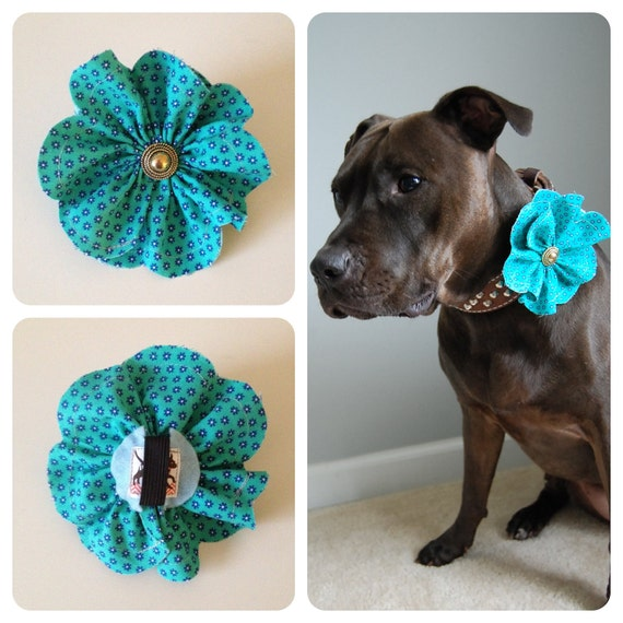 How To Make A Fabric Flower For Dog Collar
