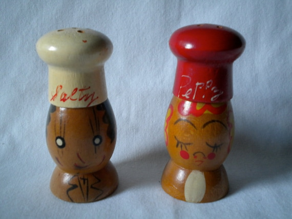 20% OFF Wooden Salty and Peppy Salt and Pepper Shakers