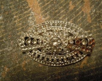 Antique Art Deco Style Diamond Brooch / Heirloom Pin / Art Deco / Diamond Pin / Vintage Jewelry / Art Deco Pin