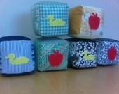 Reserved for Kat - Fabric Baby Blocks - Elliot