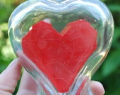 Heart in a Bottle made from genuine LEGO(r) bricks