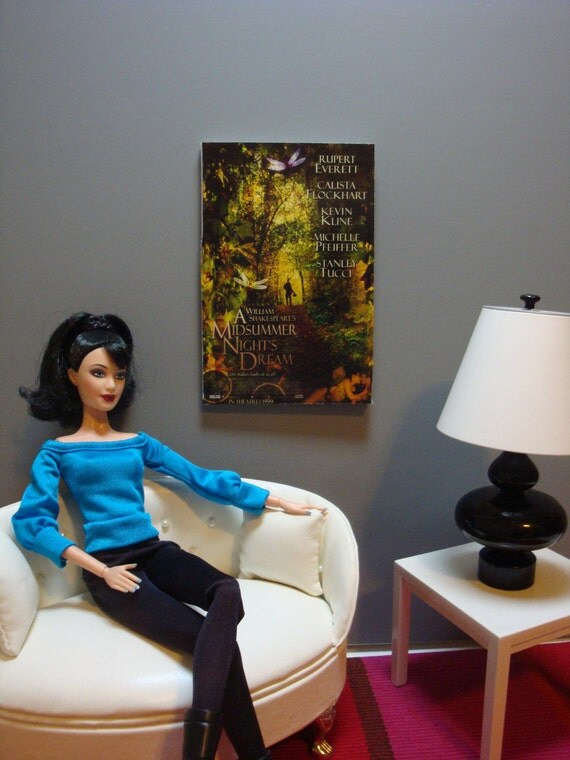 1:6 scale fashion doll diorama wall art - a midsummer night's dream