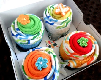 Deluxe Washcloth Cupcake Set..8 pcs.
