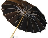 Black Parasol Mary Poppins Lucite Tips
