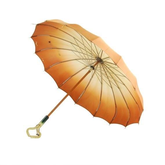 Orange Victorian Parasol Autumn Harvest