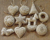 Elegant Honey Cakes felt ornaments for Christmas