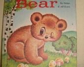 Vintage Childrens Book -  Pokey Bear - Nursery Decor 1965 - Tip Top Elf Book - Vintage Ephemera Scrapbooking Card Making - Baby Children