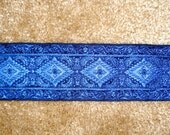 Deep Blue Woven Ribbon