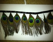 Peacock Feather Trim - 1 Yard - Reserved
