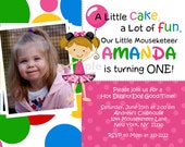 Birthday Invitation - Personalized Mouse Inspired With or Without Photo (Matching Thank You Available) - Digital Print