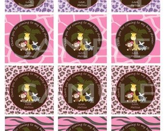 Personalized Boy, Girl or Gender Neutral Baby Shower Thank You Tags/Stickers (Matches Invitation) - Digital Print
