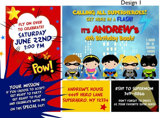 Justice League Birthday Invitations as awesome invitations example