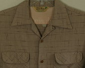 50s -M- Flecked - Rayon - Rockabilly - Shirt - 1950s - Elvis - Atomic - Gabardine - VLV