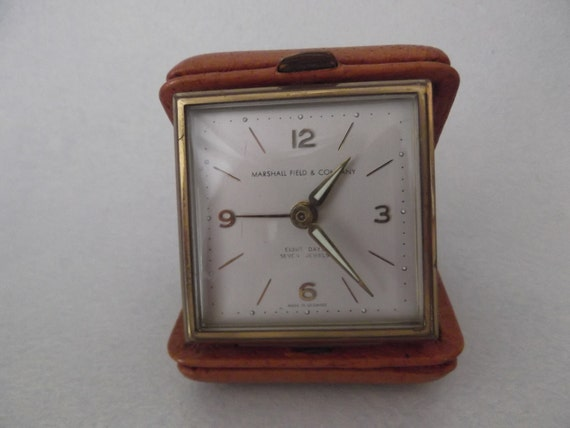 RESERVED for ONG Marshall Field & Co. 8 Day 7 Jewel Alarm Clock