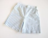SALE vintage girls shorts blue and white striped 4T