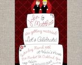 custom engagement party or shower invitation - DIY printable